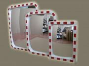 Зеркало дорожное прямоугольное со СВ окантовкой 400x600