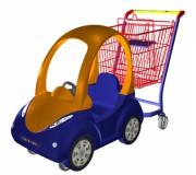 Тележка покупательская детская (автомобильчик) MAXX Kids SH-90