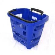 Покупательская корзинка-тележка на колесах 34 л телескоп. ручка
