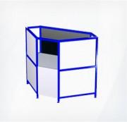 Прилавок-витрина трапециевидный внутренний ПР5