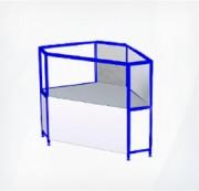 Прилавок-витрина трапециевидный внешний ПР4