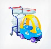 Тележка покупательская детская (автомобильчик с поддоном)