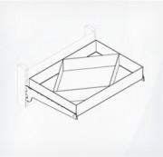 Полка металлическая с разделителями под углом