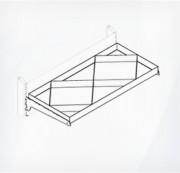Полка металлическая с разделителями под углом двойная