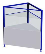 Прилавок-витрина угловой (внутренний) ПР1АУВ